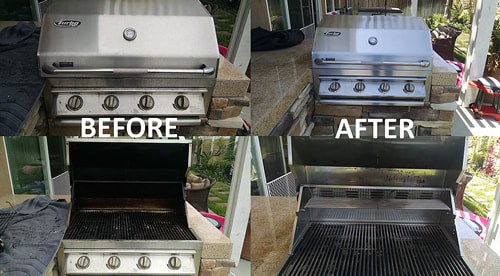 4 Grills that were just professionally cleaned in Palm Springs CA.